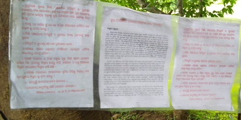 Kalahandi Atmosphere tense after Maoist posters drum up support for 'August 18 shutdown'